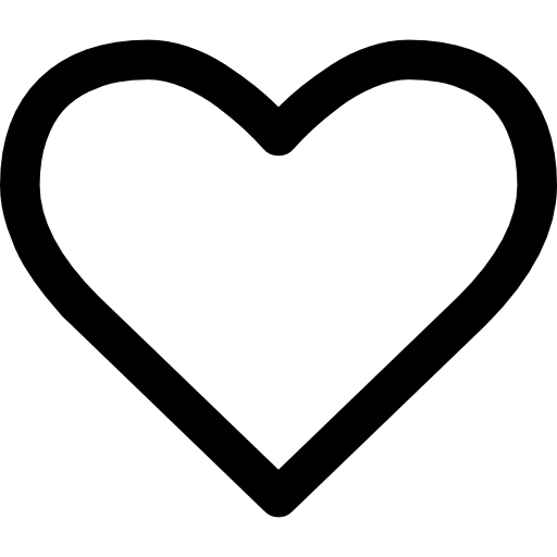 Heart Shape Outline Icons Free Download