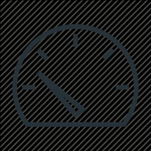 Low, Speed, Speedometer Icon
