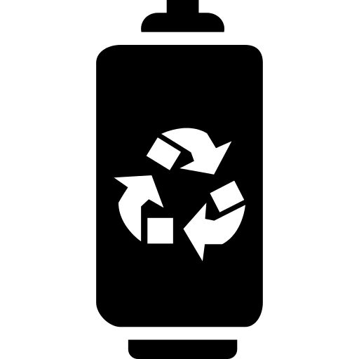 Battery With Recycle Symbol Png Icon