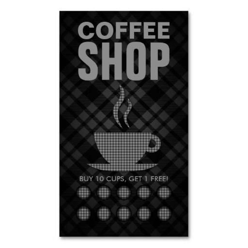 Plaid Coffee Punch Card Work Coffee