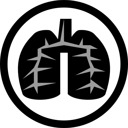 Black Lung Icon Clipart