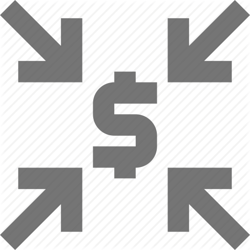 Currency, Decrease, Forex, Material, Money, Zoom Out Icon