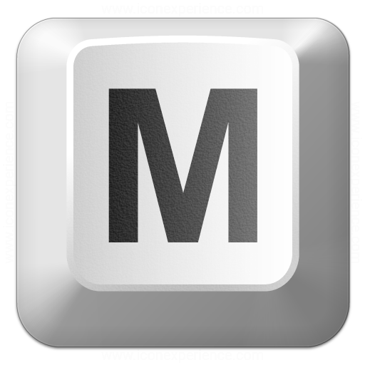 Iconexperience V Collection Keyboard Key M Icon
