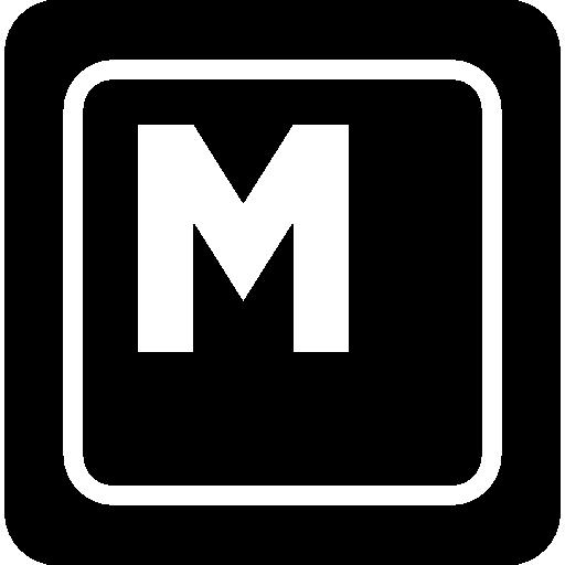 Keyboard Key M Icons Free Download