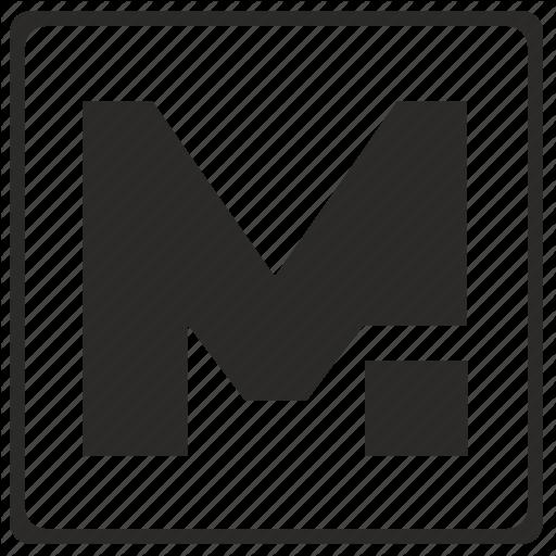 Alphabet, Latin, Letter, M, Modern Icon