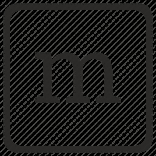 Alphabet, Letter, Lowcase, M Icon