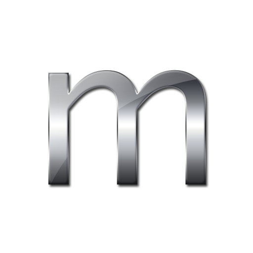 Metalic Letter M Icon Png