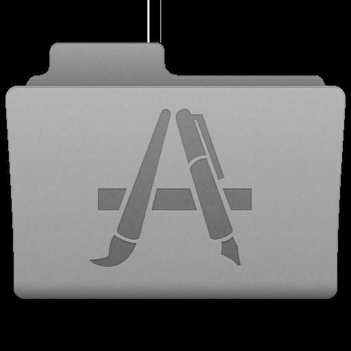 Grey Applications Folder Icon