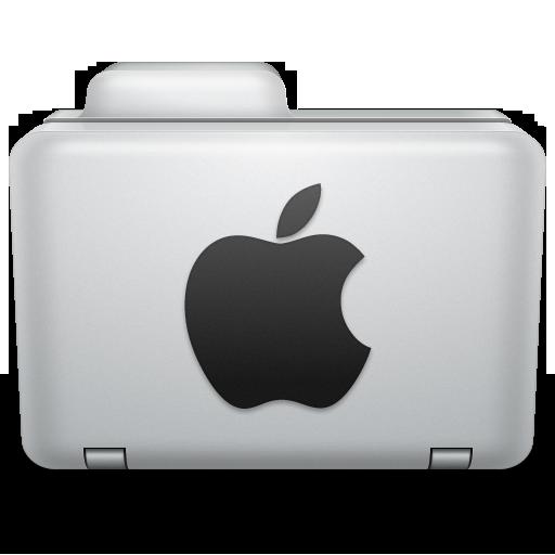 Noir Apple Folder Icon