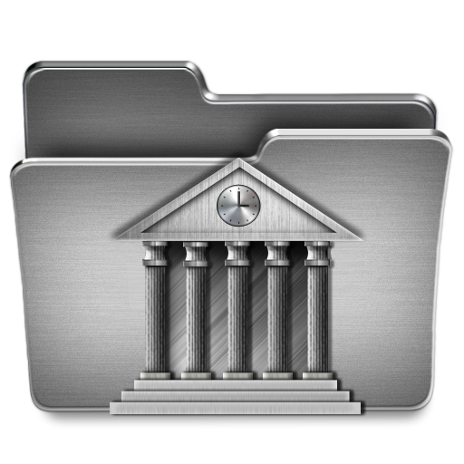 Library Mac Icon Steel System Iconset