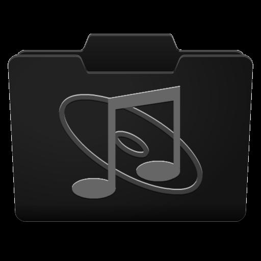 Black Grey Music Icon
