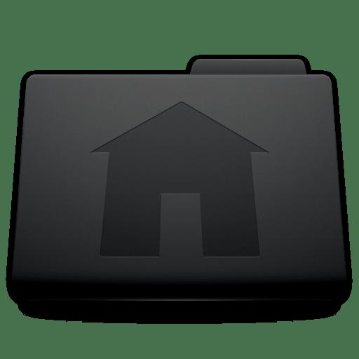 Black Mac Folder Icons Applications