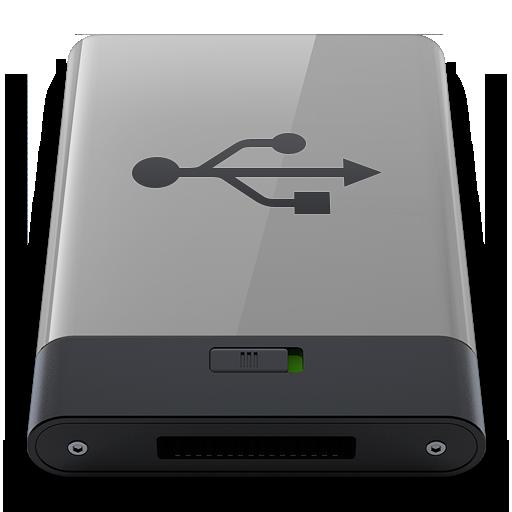 Grey Usb B Icon Hyper Realistic Hd Iconset
