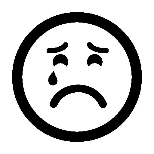 Sad Suffering Crying Emoticon Face Free Vector Icons Designed