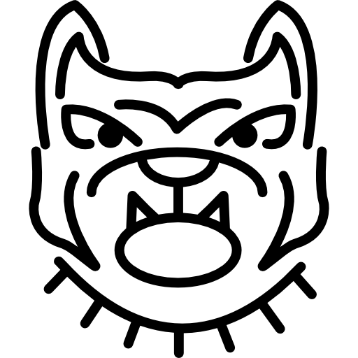 Angry Bulldog Face Outline Icons Free Download