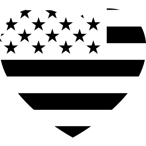 Heart Flag Of United States Of America