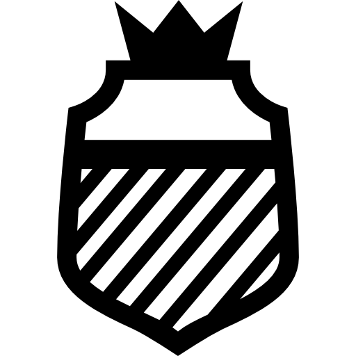 Shield With Stripes And A Crown Icons Free Download