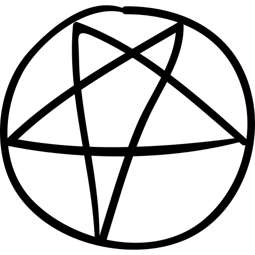 Star Of Black Magic In A Circle Png Icon