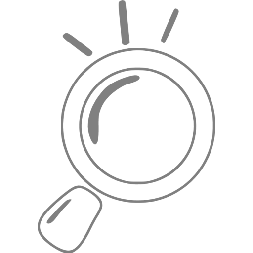 Gray Magnifying Glass Icon