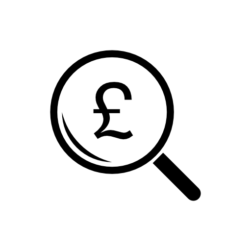 Download Pounds In Magnifying Glass Png Image For Designing