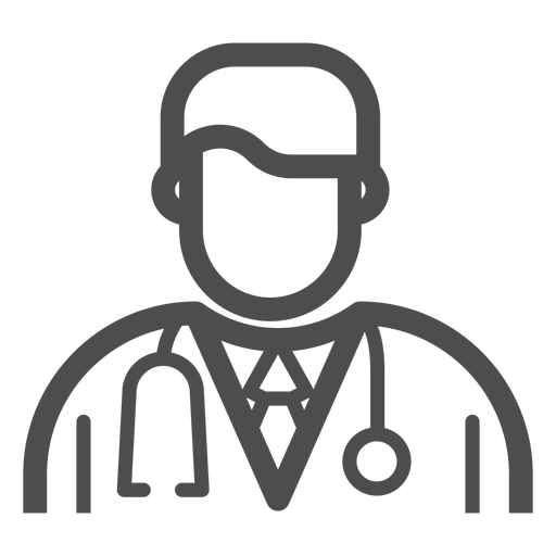 Doctor Avatar Stroke Icon