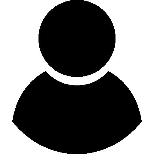 Black Male User Symbol Icons Free Download