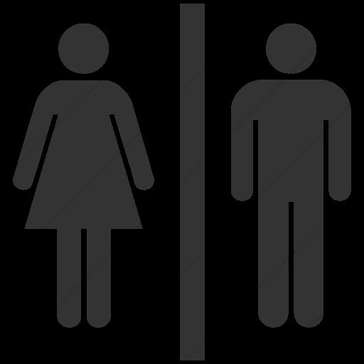 Simple Dark Gray Ocha Humanitarians Wash Toilet Icon