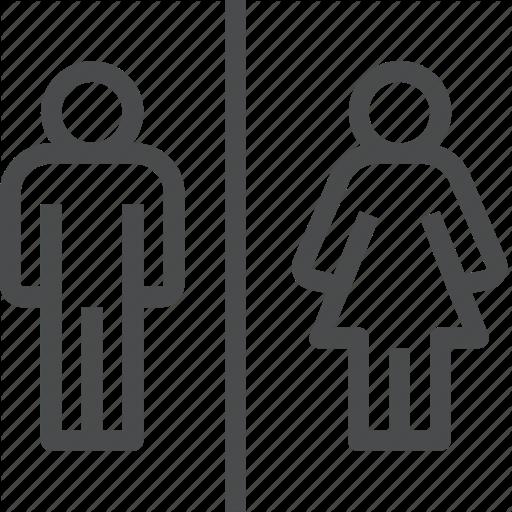 Bathroom, Boy, Female, Girl, Male, Man, Woman Icon