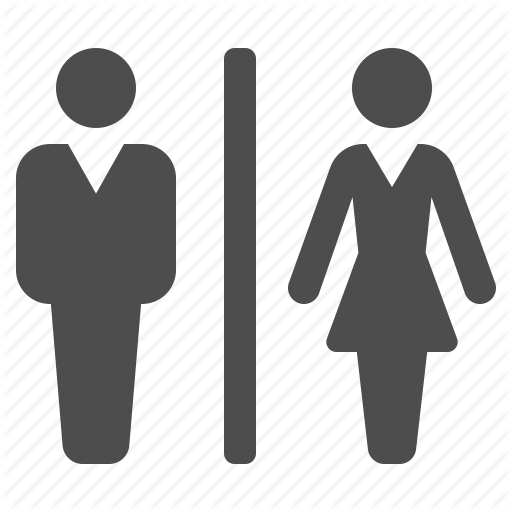Wc Toilet Man And Woman Icon