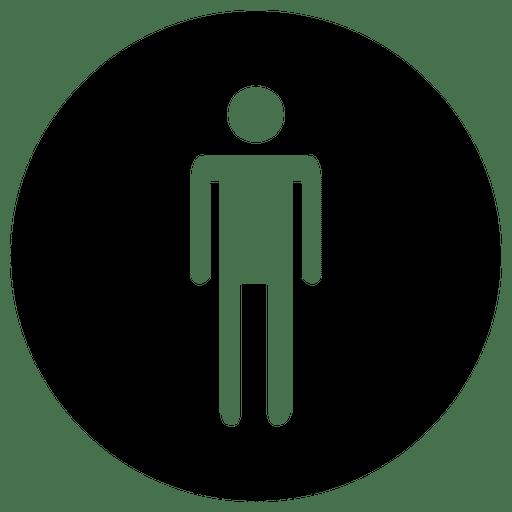 Round Service Man Icon