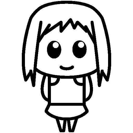 Femenine Anime Character Smiling