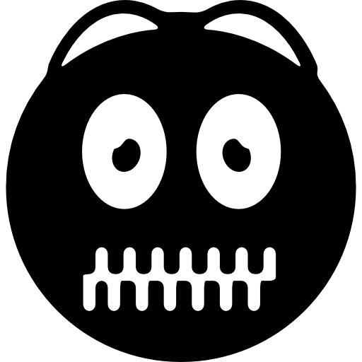 Emoticon With Zipped Up Mouth Icons Free Download