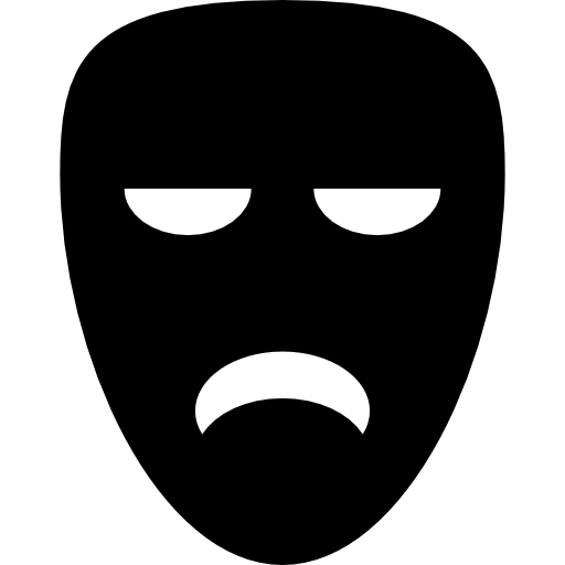 Sad Mask Icons Free Download