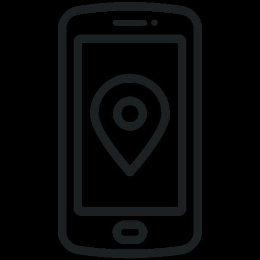 Map, Gps, Communication, Navigation, Location, Phone Icon
