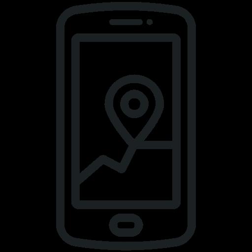 Phone Icon, Gps, Location, Map, Application, Navigation