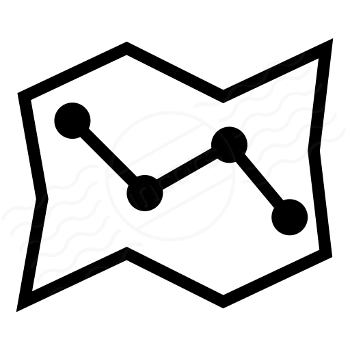 Iconexperience I Collection Map Route Icon