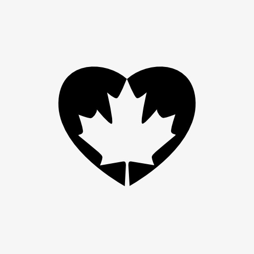 Heart Shaped Icon In The Maple Leaf, Maple Leaf, Maple, Leaf Png