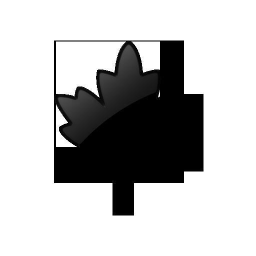 Black Leaf Icon Images