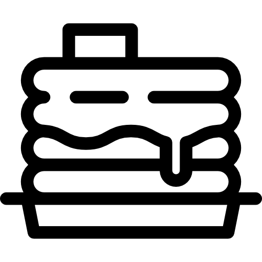 Pancakes With Syrup Icons Free Download