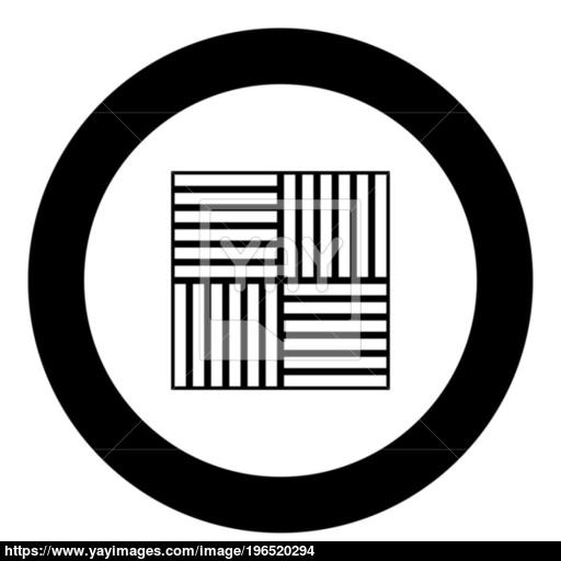 Laminate Flooring Icon Black Color In Circle Vector