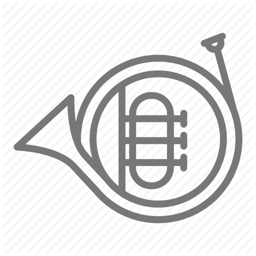Band, French, French Horn, Horn, Instrument, Marching, Music Icon