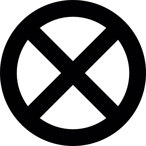 Signs, Cross, Circle, Circular, Cross Mark, Cross Out Icon