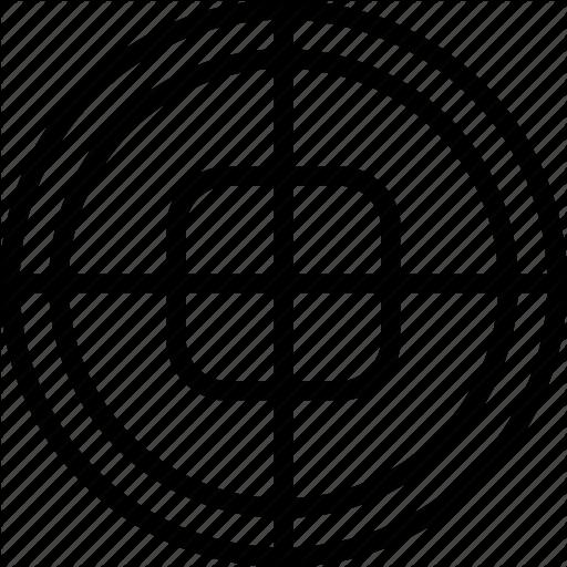 Circle, Cross, Mark, Square, Target Icon