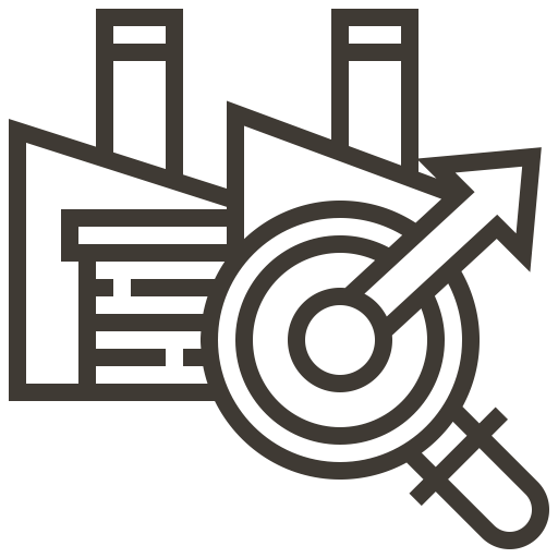 Industry, Technology, Machinery, Industrial, Factory, Automation Icon