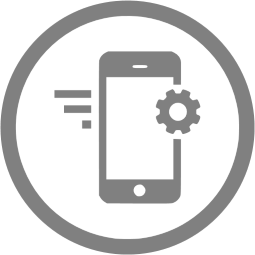 Gray Mobile Marketing Icon