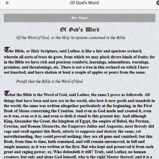 Table Talk, Martin Luther Apk