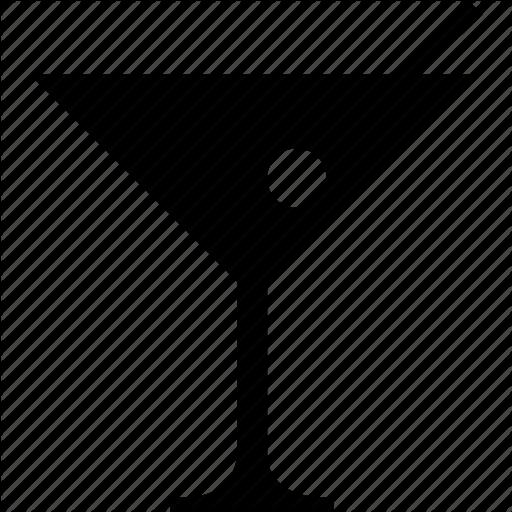 Alcohol, Cocktail, Glass, Martini, Martini Glass, Olive Icon
