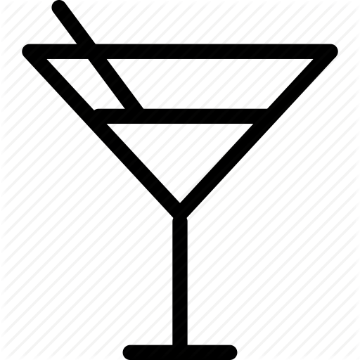 Alcohol, Cocktail, Glass, Martini, Webshop Icon
