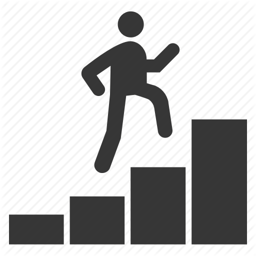 Bar, Chart, Climbing, Growth, Ladder, Stairs Icon