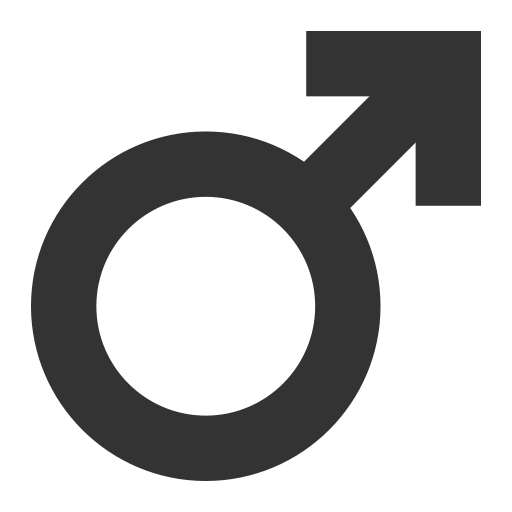 Masculine, Linear, Monochrome Icon With Png And Vector Format